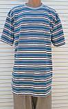 Чоловіча футболка великого розміру Футболка з натуральної тканини Велика футболка 62 розмір Сіро-бірюзові, фото 6