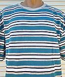 Чоловіча футболка великого розміру Футболка з натуральної тканини Велика футболка 62 розмір Сіро-бірюзові, фото 7