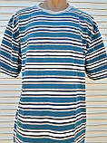 Чоловіча футболка великого розміру Футболка з натуральної тканини Велика футболка 62 розмір Сіро-бірюзові, фото 9