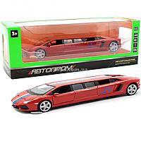 Машинка игровая металлическая Автопром «Lamborghini Aventador» Красная 6621L, фото 1