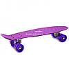 Пенні борд (скейт) з світяться колесами. Безшумний Penny Board фіолетовий (945855758)