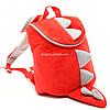 Дитячий Рюкзак для дитини Копиця Динозавр Діно, червоний 25х20х10 см (00200-33)