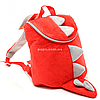 Рюкзак детский для ребенка Копиця Динозавр Дино, красный 25х20х10 см (00200-33)