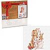 Картина за номерами Ідейка «Маленька родина кроликів» 30x30 см (КНО2361)