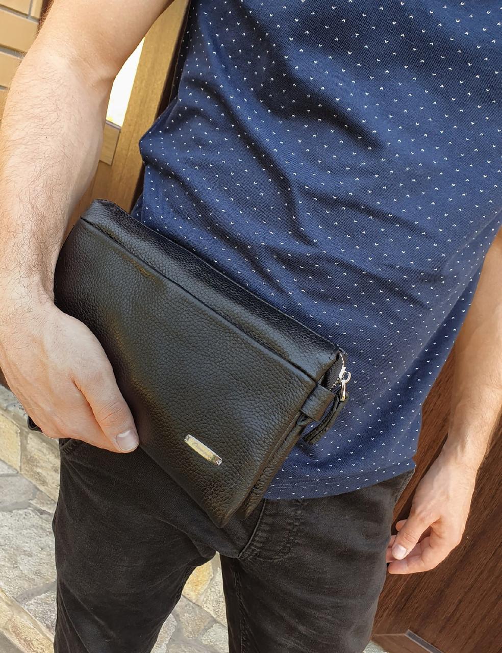 Чоловіча сумка барсетка натуральна шкіра