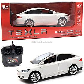 Машинка на радіоуправлінні Тесла біла, 1:16, світлові ефекти (HQ20149)