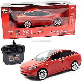 Машинка на радіоуправлінні Тесла червона, 1:16, світлові ефекти (HQ20149)
