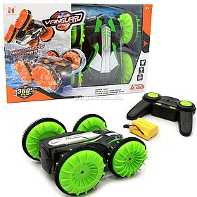 Трюкова машинка на радіоуправлінні Амфібія акумулятор, їздить по воді, поворот 360, зелена (LH-C013)