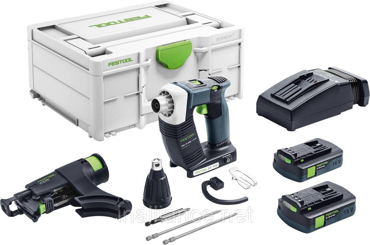 Аккумуляторный строительный шуруповёрт DURADRIVE DWC 18-2500 C 3,1-Plus Festool 576500