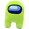 Мягкая игрушка «Космонавт Among Us» Амонг Ас, Салатовый, 15х12х23 см (00006-02)