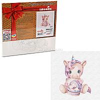 Картина за номерами Ідейка «Рожевий єдиноріг» 30x30 см (КНО2357), фото 1