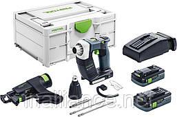 Аккумуляторный строительный шуруповёрт DURADRIVE DWC 18-2500 HPC 4,0 I-Plus Festool 576498