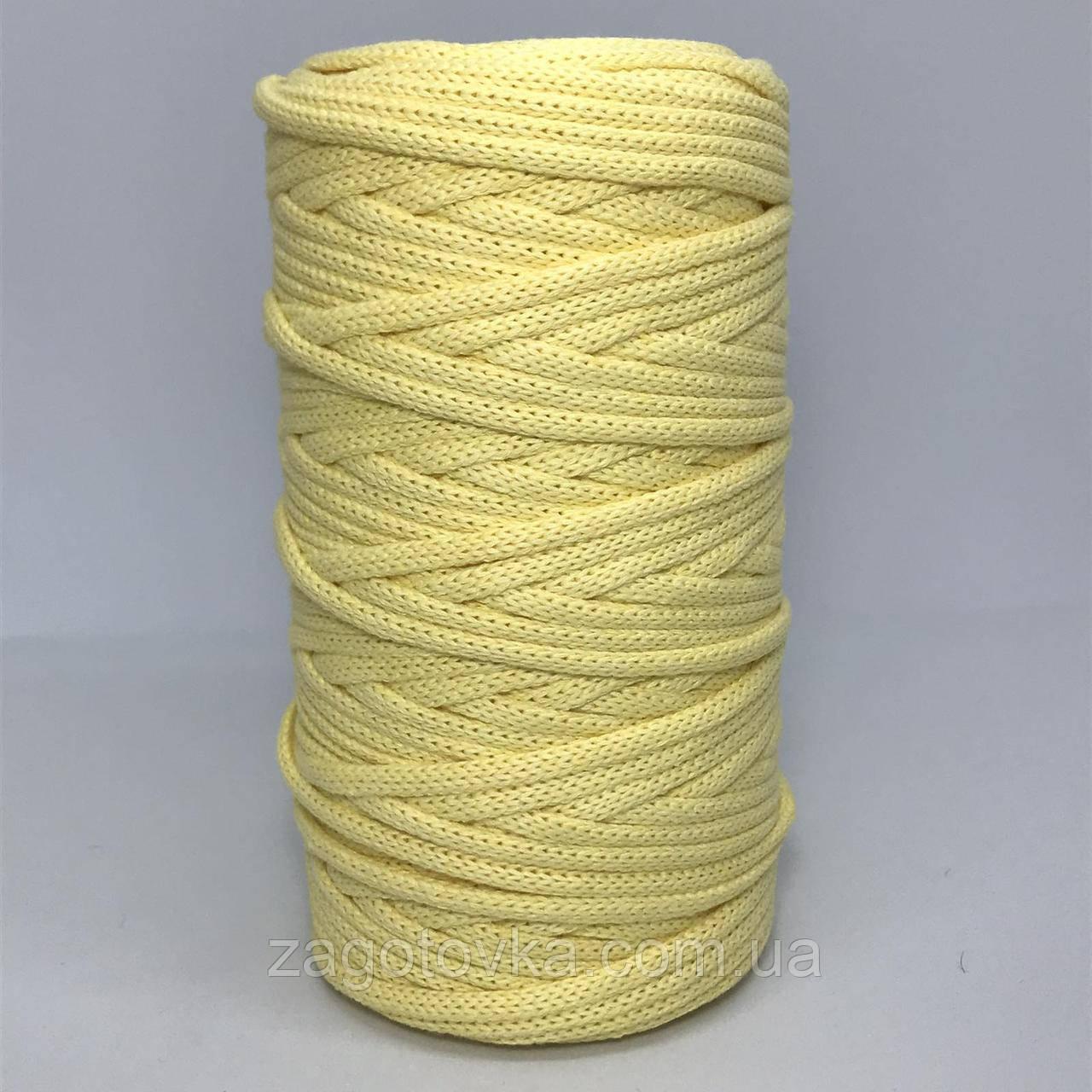Шнур преміум коттон 5мм Блідо-жовтий