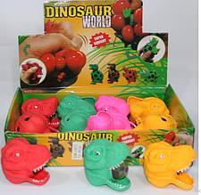 ОПТ!! Антистресс игрушка Голова Динозавра с орбиз  12 шт в уп.