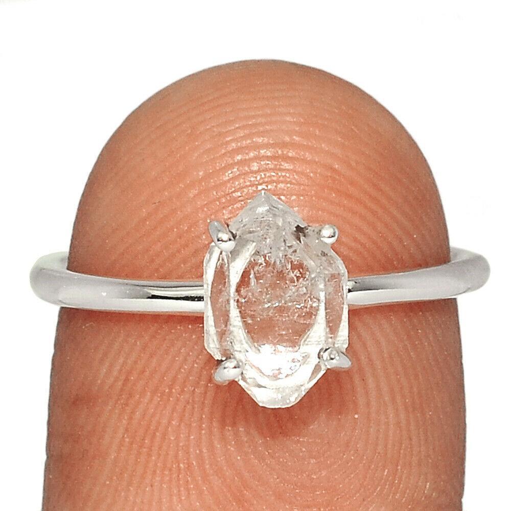 Херкимерский (Херкаймерийский) алмаз серебряное кольцо, 1811КХ