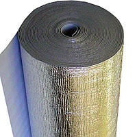 Полотно фольгированное  двухстороннее 4,0 мм Теплоизол  шир.-100см,
