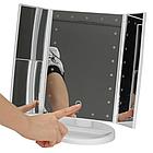 Зеркало для макияжа  тройное Superstar Magnifying Mirror с LED-подсветкой прямоугольное с увеличением ОПТ, фото 6