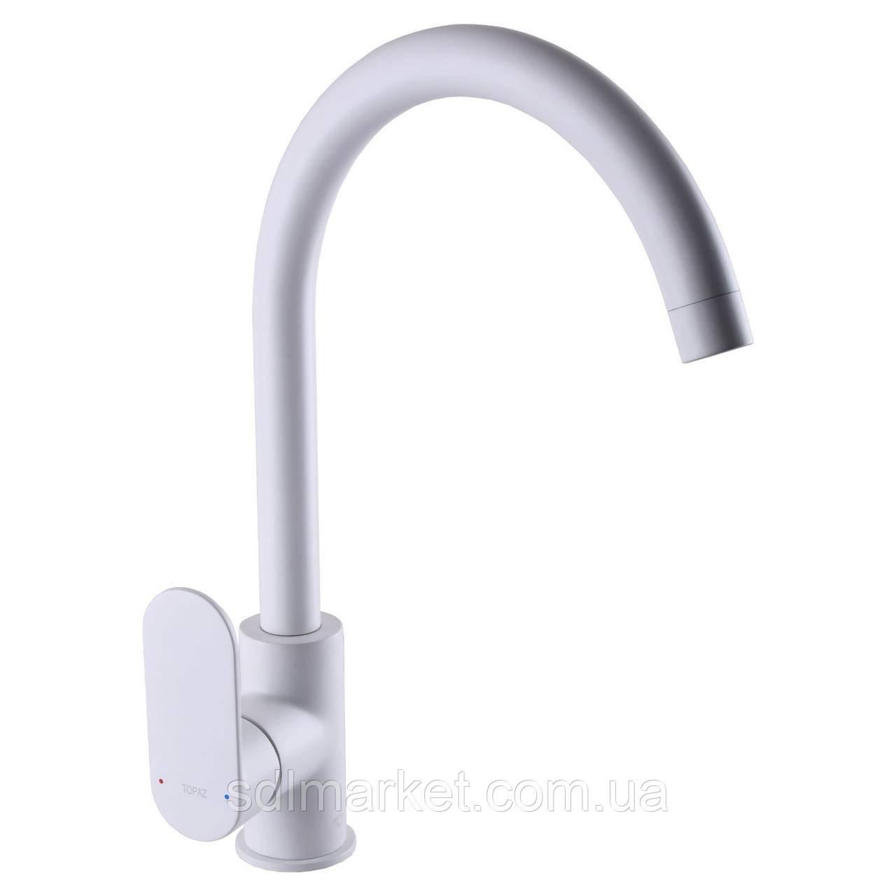 Смеситель для кухни TOPAZ BARTS TB 07403-H36-W