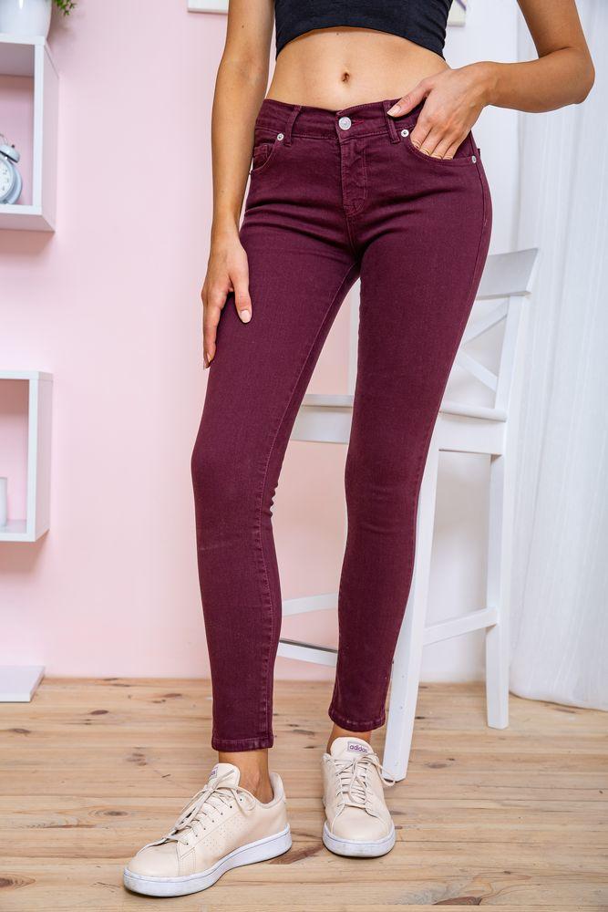Джинси жіночі колір сливовий розмір 40 SKL87-298962