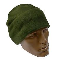 Флісова шапка підшоломник олива