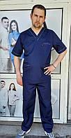 Медицинский мужской хирургический костюм, р. 42-58, разные цвета.