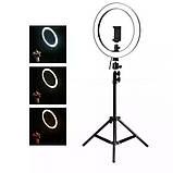 Кругла лампа світлодіодна кільцева лампа, лампа для селфи RL 12/QX300 (діаметр 30 см), фото 5