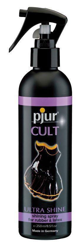 Спрей для ухода за одеждой из резины и латекса pjur Cult Ultra Shine 250 мл, придает блеск Bomba💣