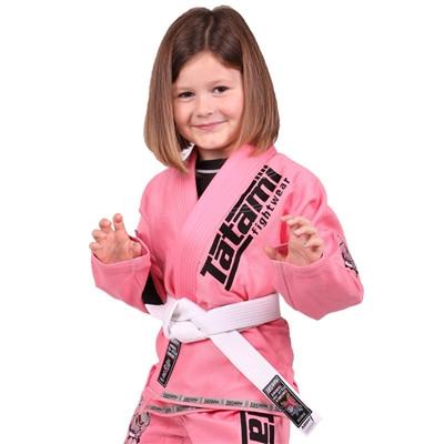 Кимоно детское для бразильского джиу-джитсу TATAMI NEW Meerkatsu Kids Animal Розовое