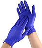 Нітрилові рукавички нестерильні одноразові 100 шт/уп. сині розмір М NITRYLEX BASIC