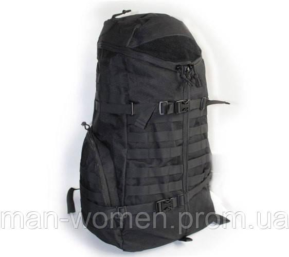 Рюкзак тактический (рейдовый) - 55л - черный, камуфляж вудленд