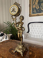 Бронзовые часы/ антикварные каминные часы/старинные часы