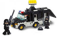 Конструктор Полицейская машина M38-B1900 Sluban, 206 деталей