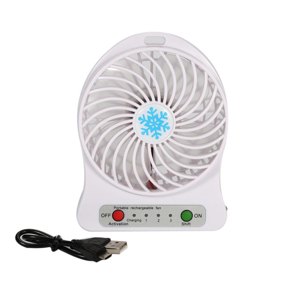 Міні вентилятор mini fan xsfs-01 3 швидкості з акумулятором та usb шнуром