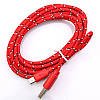 Тканинний кабель Micro USB шнур - USB 1 метра різні кольори, фото 5
