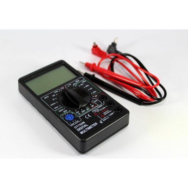 Цифровой портативный мультиметр тестер DT 700B с щупами и батарейкой