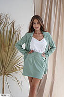 Деловой костюм женский красивый длинный пиджак с короткой юбкой Сити р-ры S-M арт. 9873/9881
