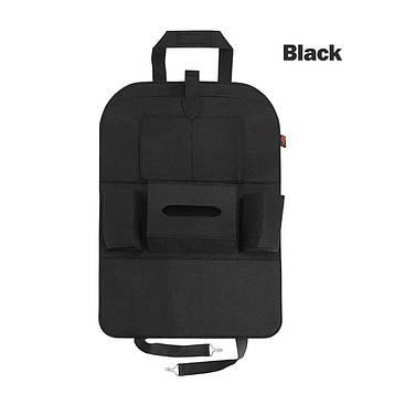 Універсальний Органайзер на спинку сидіння автомобіля 6 кишень авто-сумка для зберігання, Чорний