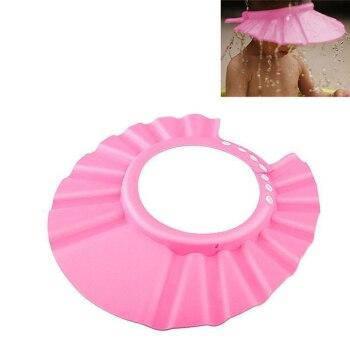 Регульована Шапочка для захисту від дитячого шампуню для купання затишна Шапочка-козирок для купання Рожева