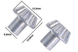 Шестерня приводу диференціала ведуча метал 2 шт (Запчастина для машинок на радіоуправлінні WL Toys 144001)