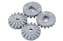 Шестерня механізму диференціала сонячна метал 4 шт (Запчастина для машинок на радіоуправлінні WL Toys