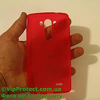 LG_D855_G3, красный силиконовый чехол, фото 1