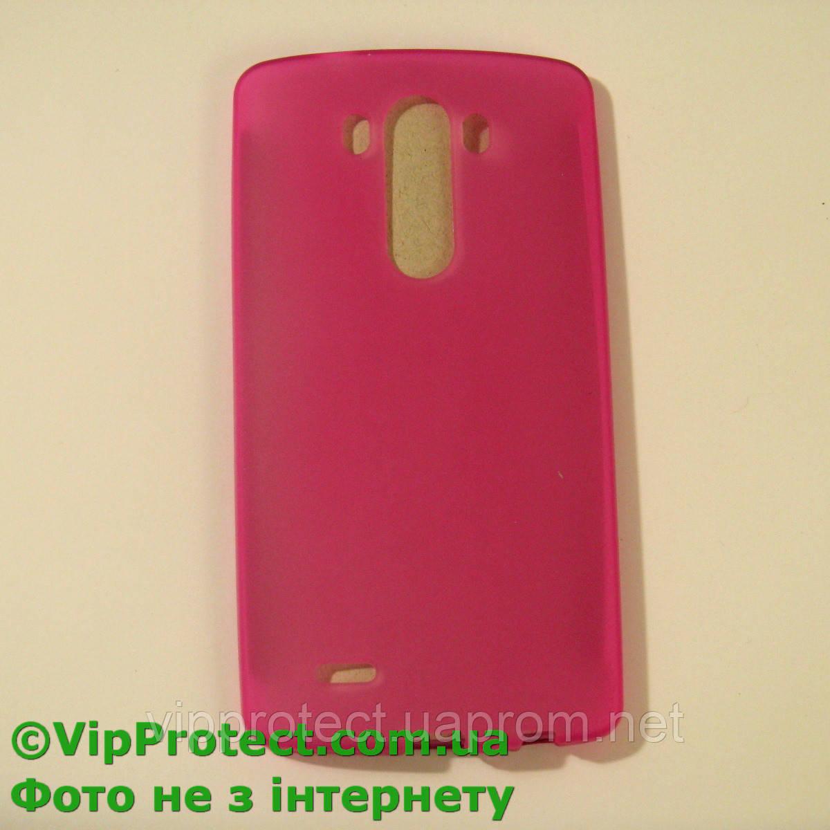 LG_D855_G3, розовый силиконовый чехол