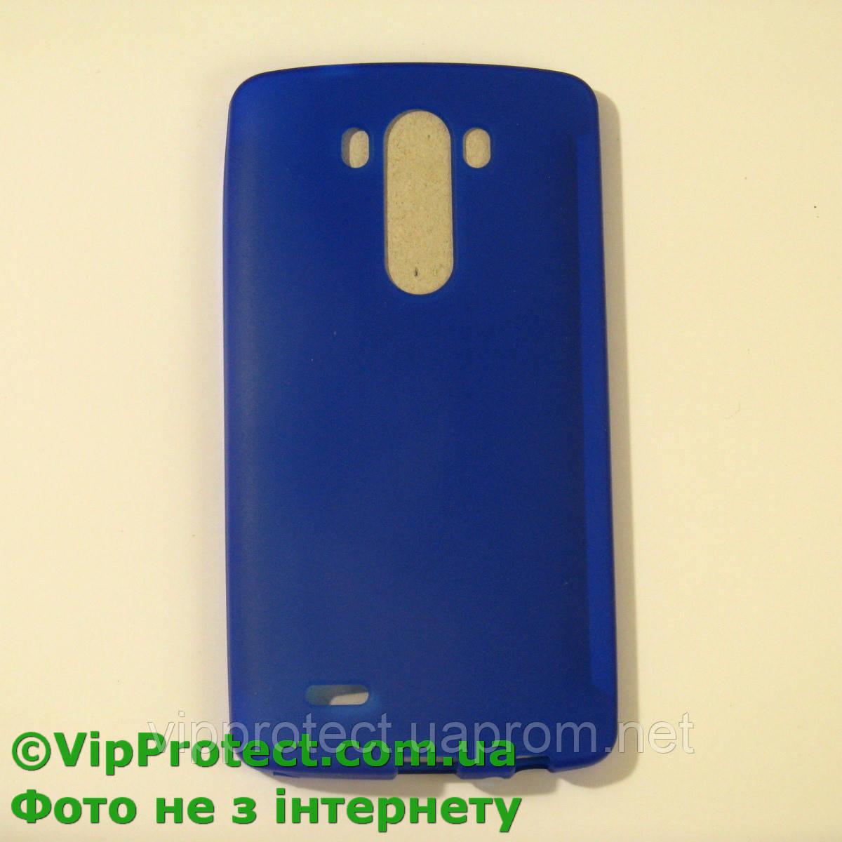 LG_D855_G3, синий силиконовый чехол