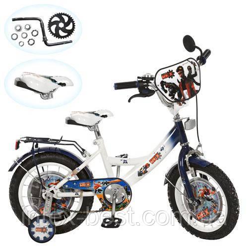 Детский двухколесный велосипед 14 дюймов (арт.GR 0002) Generator Rex (бело-голубой)