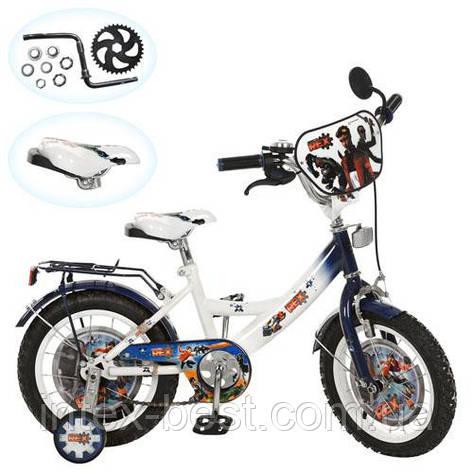 Детский двухколесный велосипед 14 дюймов (арт.GR 0002) Generator Rex (бело-голубой), фото 2