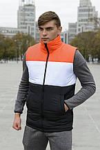Жилет чоловічий Intruder Brand Koloritna весняний, осінній помаранчево-біло-чорній S (001SAG 1523)