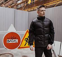 Жилет чоловічий шкіряний Intruder Brand Puller чорний XL (001SAG 1546)