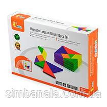Гра-головоломка Viga Toys Магнітний танграм, 35 ел. (50643FSC)