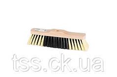 Щетка для пола MASTERTOOL 280х50х75 мм ПЭ+ПВХ+ПП деревянная без ручки 14-6344