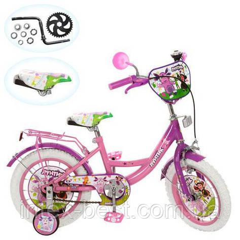 """Двухколесный детский велосипед 12"""" (арт.LT 0050-02 W) Лунтик (розовый), фото 2"""